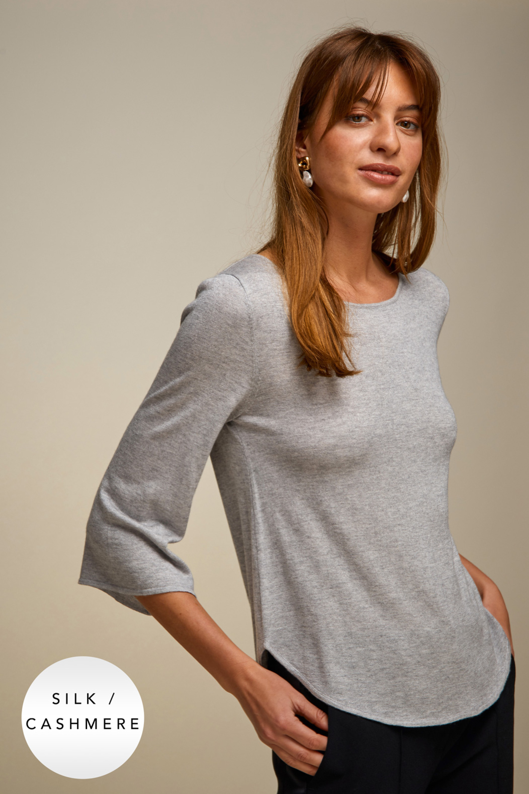 Quarter Wide Sleeve Sweater