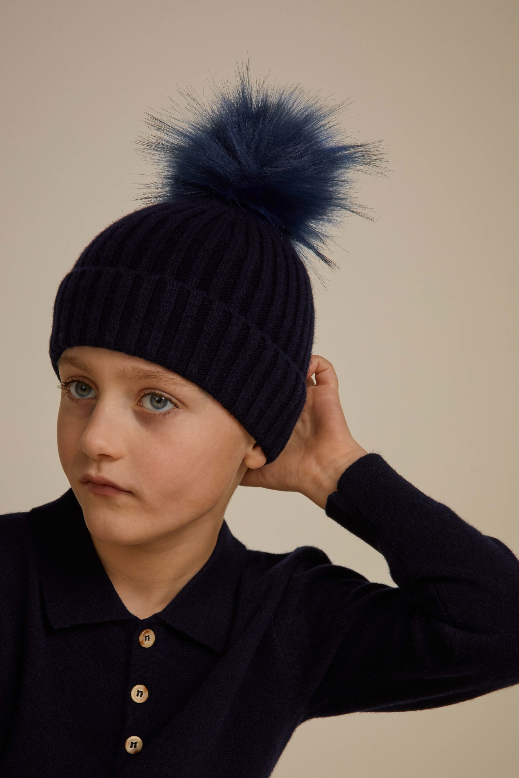 Kids Cap Fake Fur