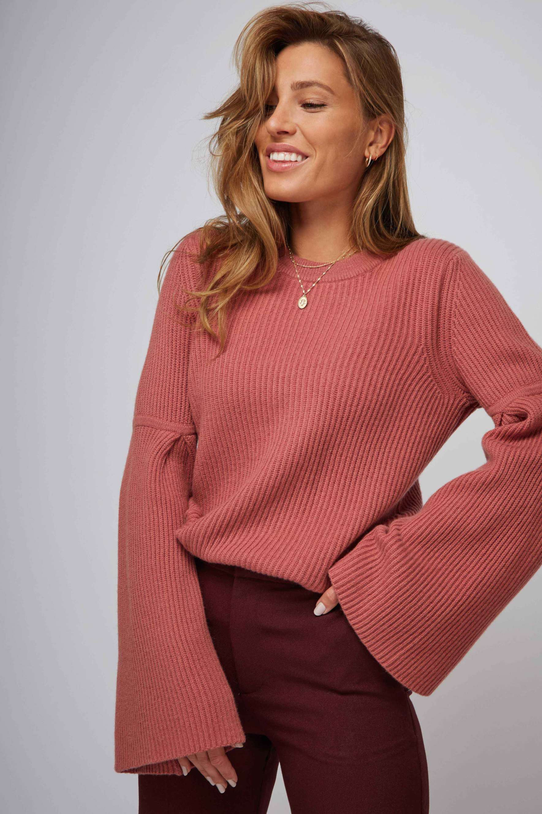 Biderman Flounce Rib Sweater