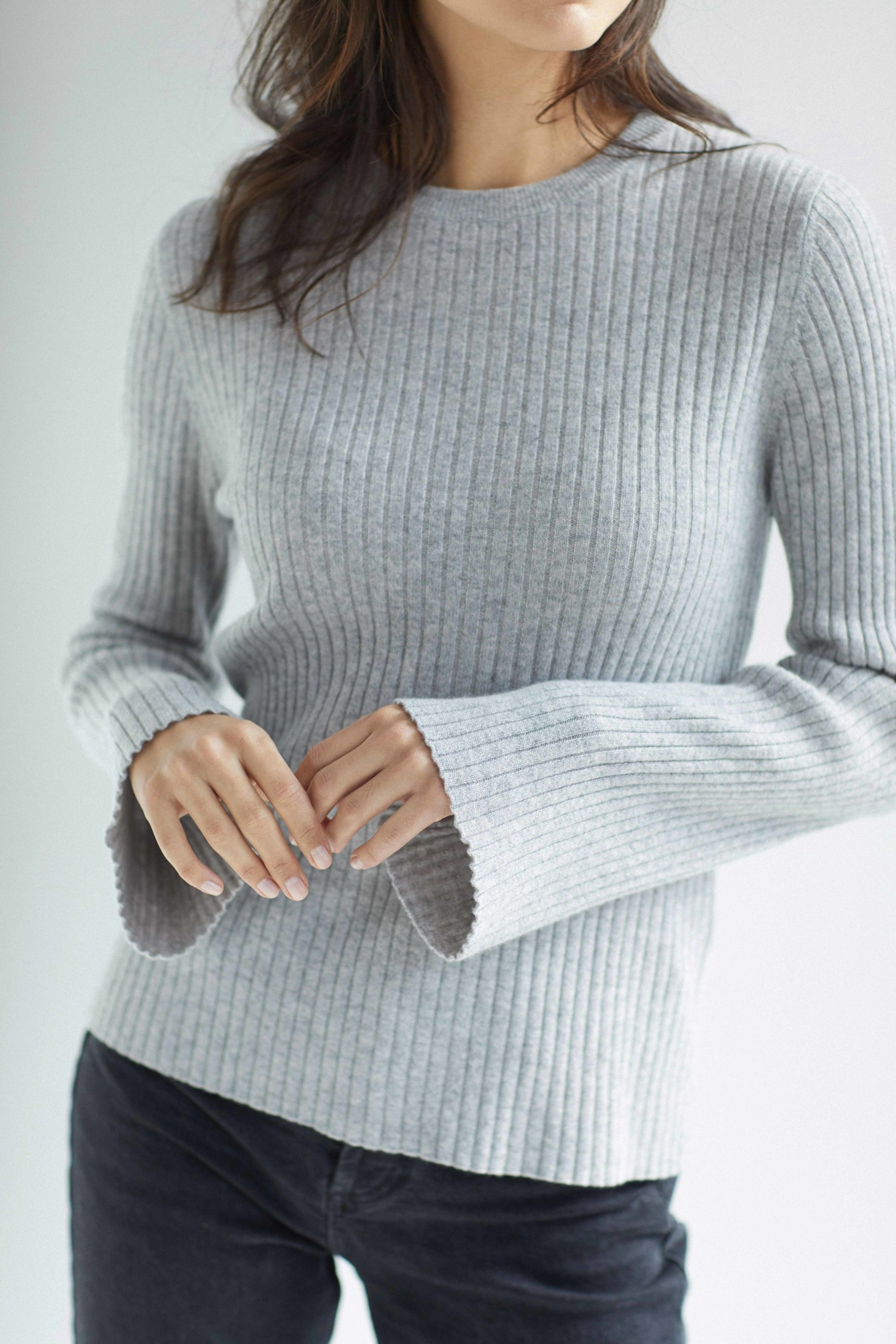 Wide Sleeve Rib Sweater