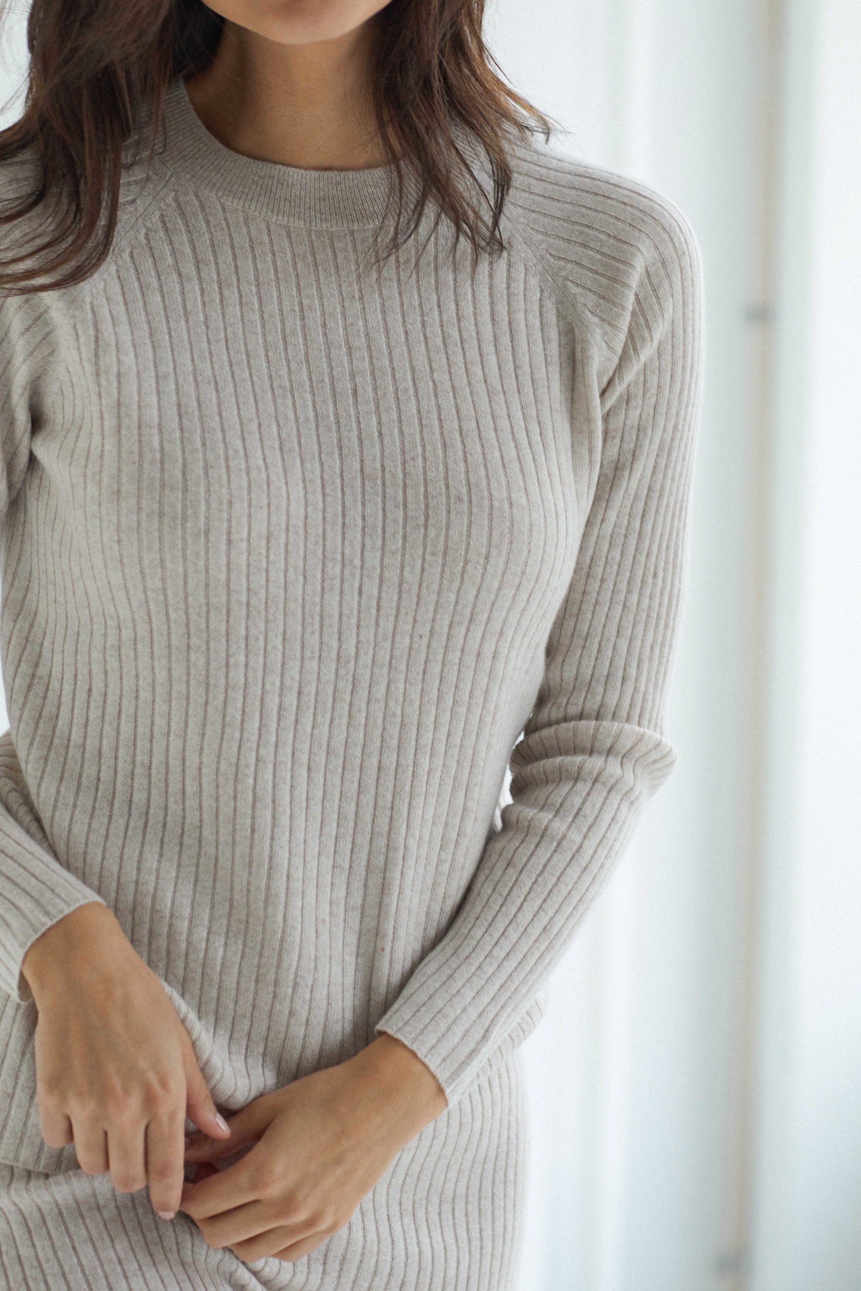 Raglan Rib Sweater