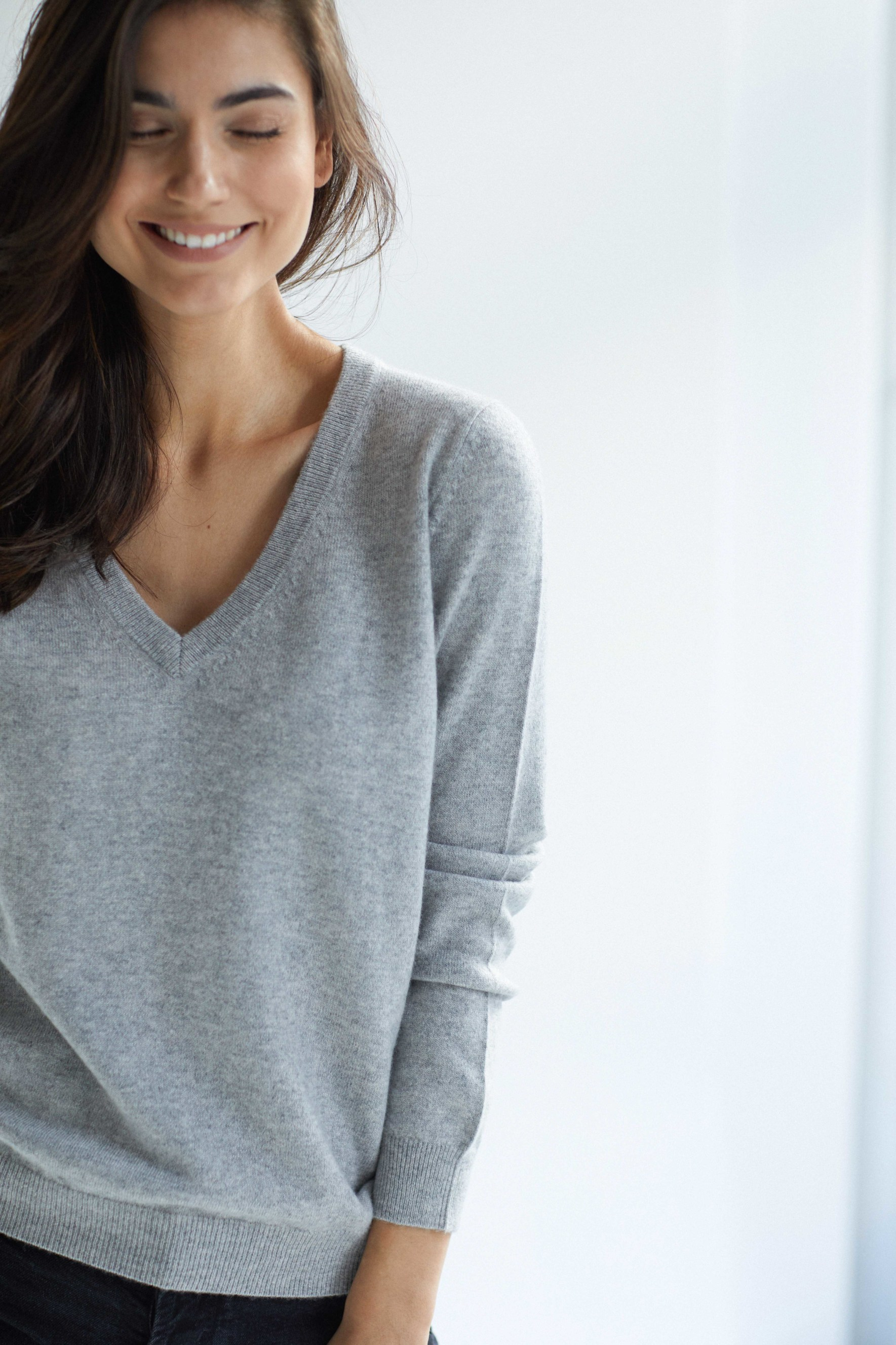 V-neck Loose Sweater