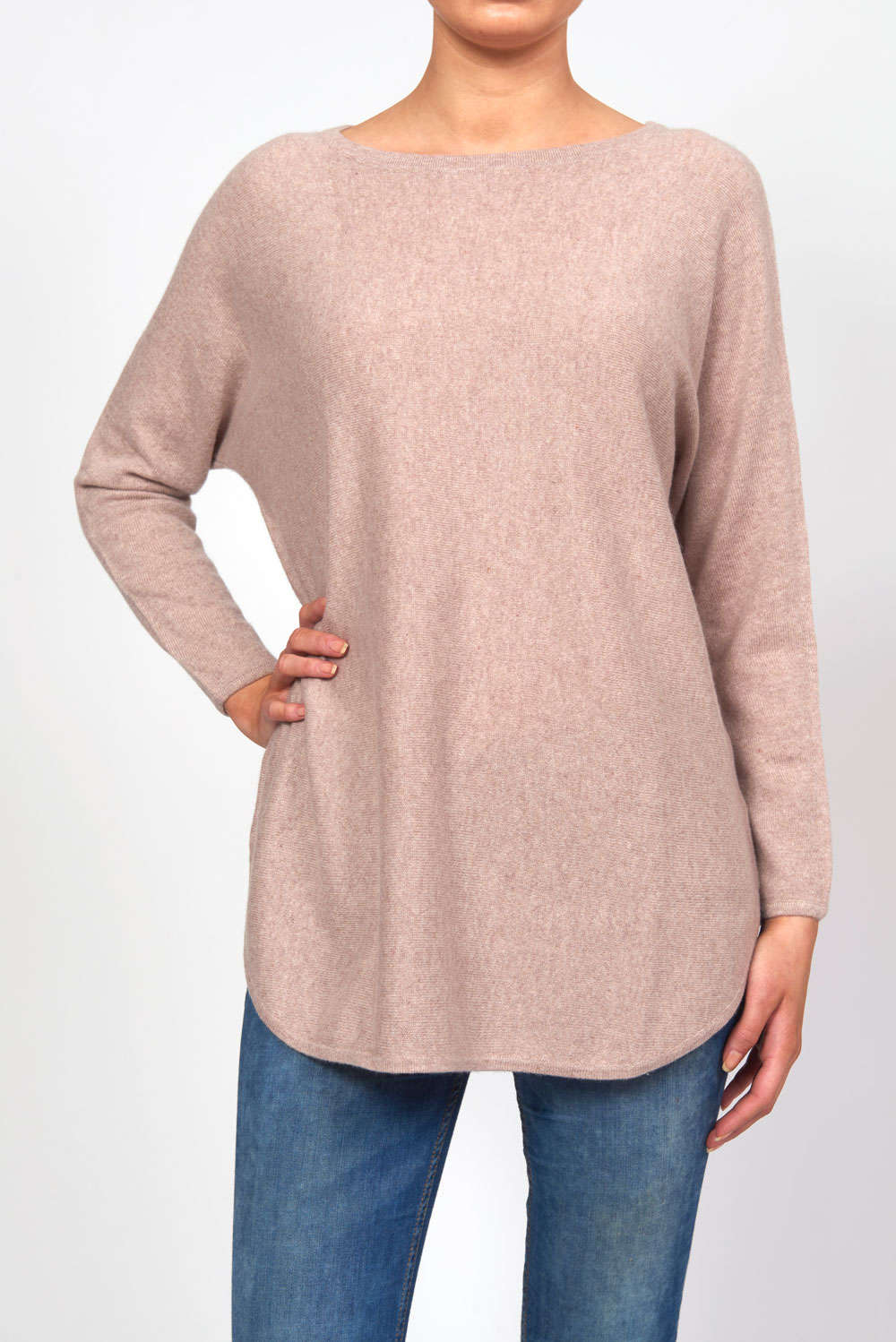 Curved Sweater Long