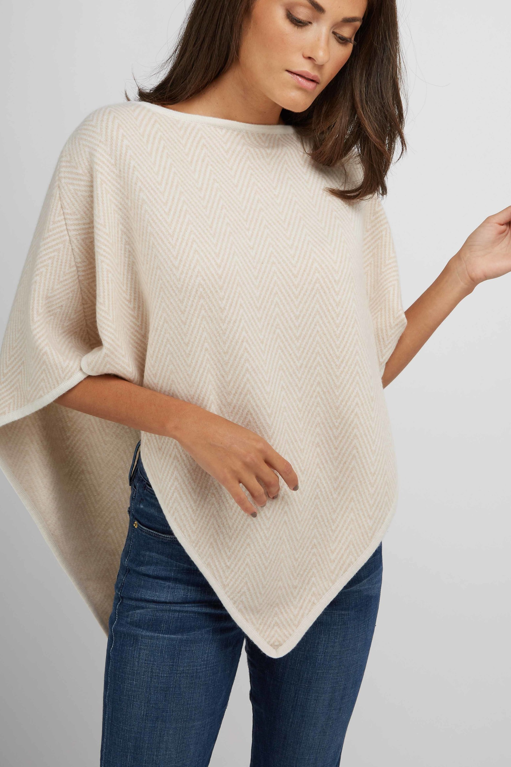 Herringbone Triangle Poncho